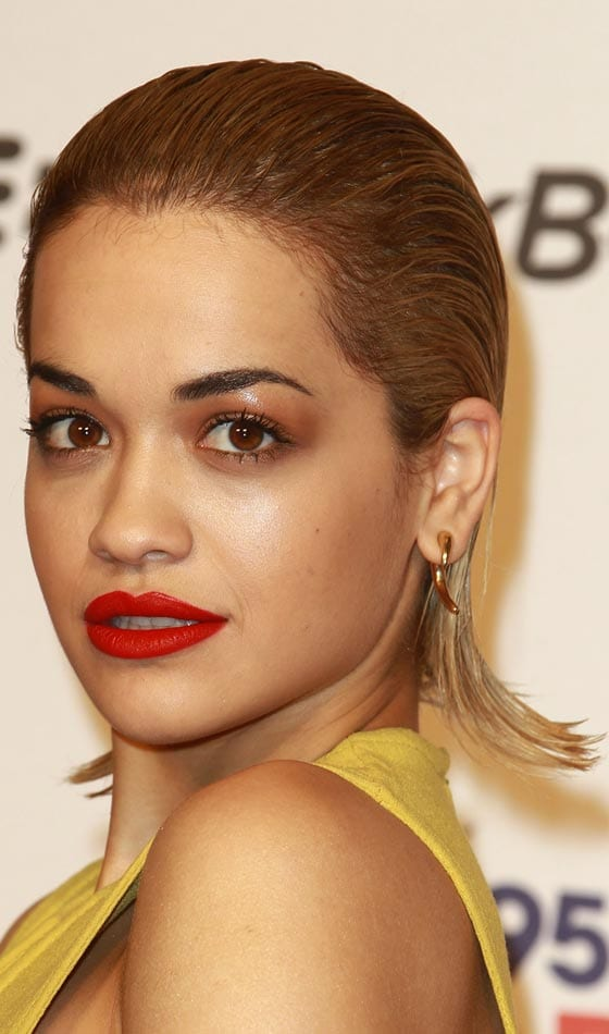wet hair look on rita ora