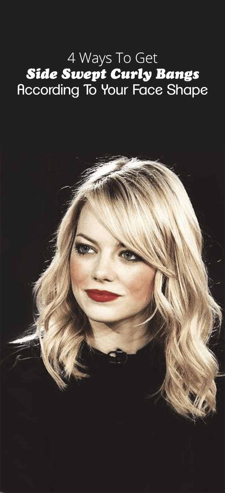 4 Ways To Get Side Swept Curly Bangs According To Your Face Shape