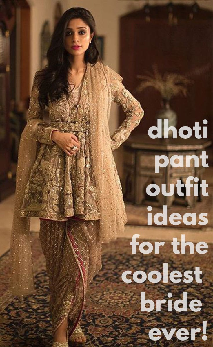 Dhoti Pant Outfit Ideas For The Coolest Bride Ever!