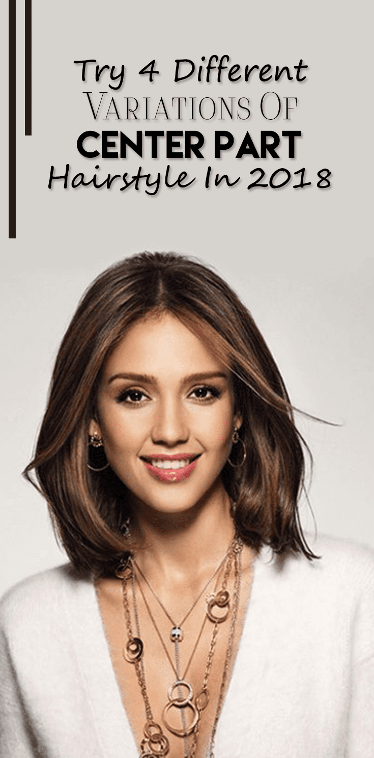 Try 4 Different Variations Of center Part Hairstyle