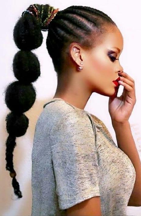 bubble ponytails