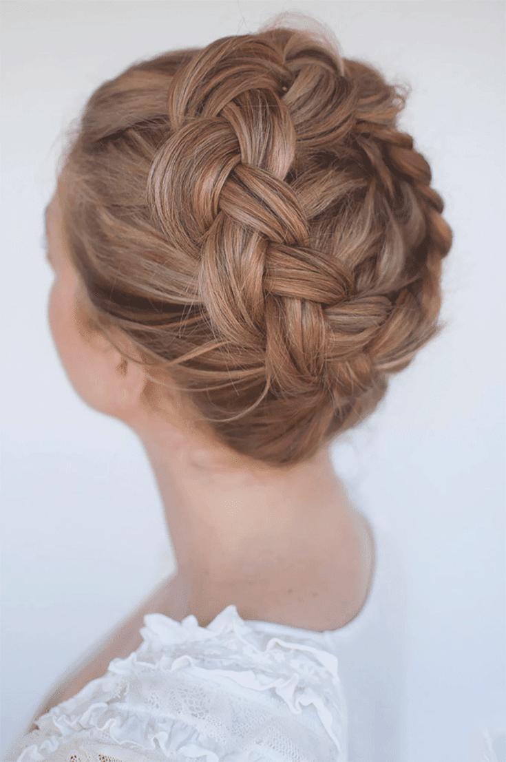 crown braid updos