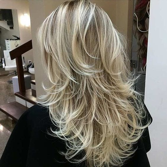 layered blonde hair