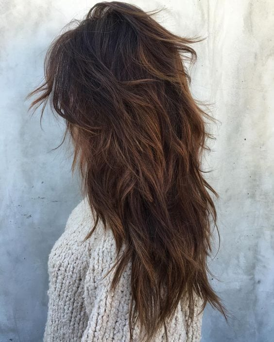 messy layered hair