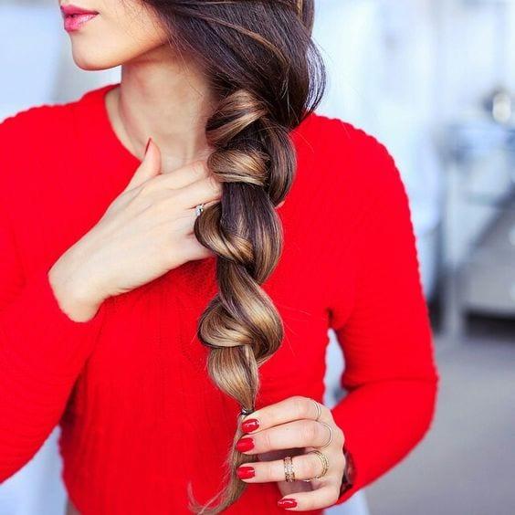 spiral braid ponytail