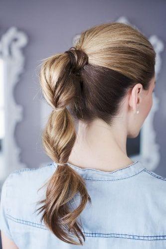three puffed ponytails