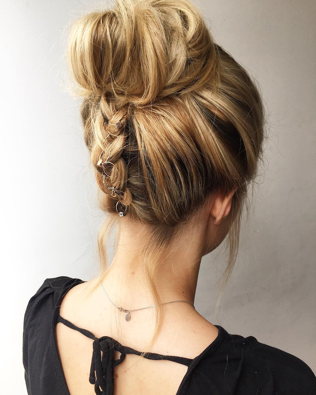 upside braid Updo