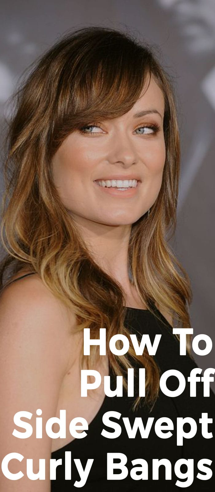 How To Pull Off Side Swept Curly Bangs