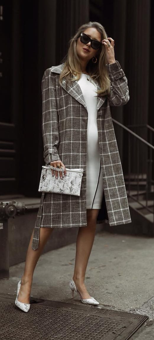 Plain-White-Dress-and-An-Overcoat-for-the-Hard-Working-Mommy