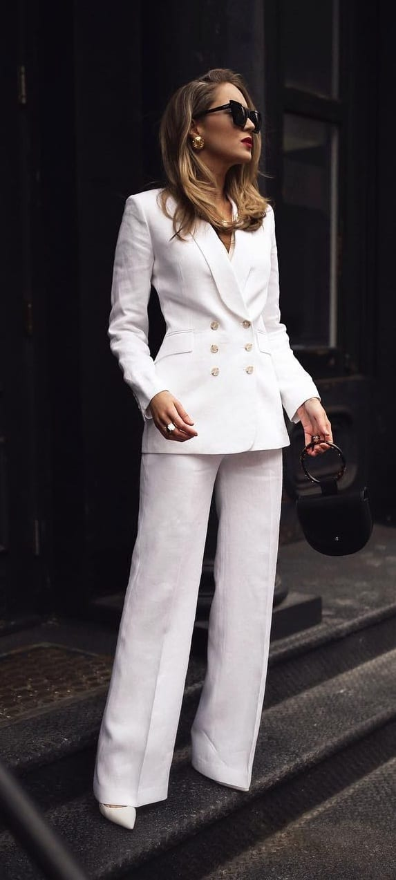 White-Blazer-Suit -Outfit-for-Women