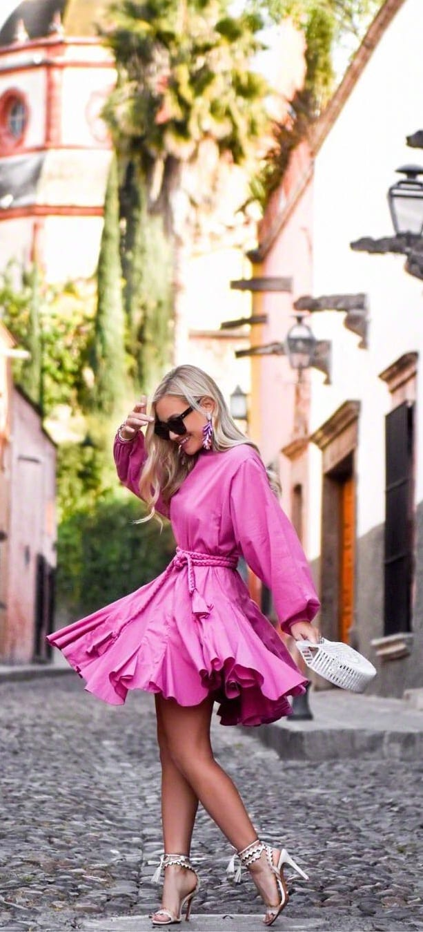 Hot Pink Dress Outfit