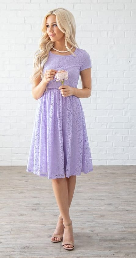 Lavender colored Dress Outfit