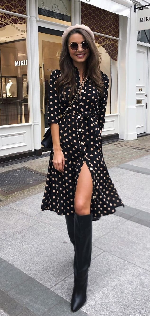 Hottest Polka Dot Dress Outfits