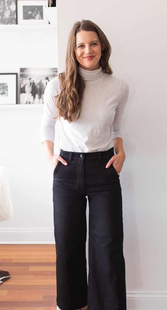 Turtleneck-Flared Pants- Outfits for Work From Home