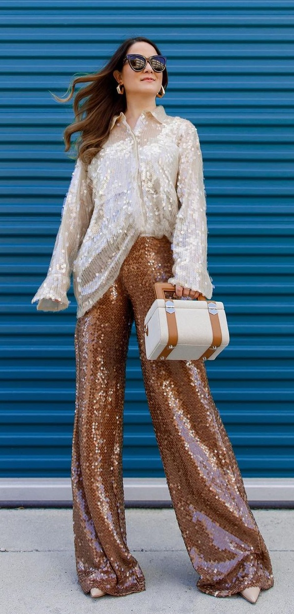 Bold and Beautiful Shimmer Shirt and Pant Outfit Ideas for Birthday