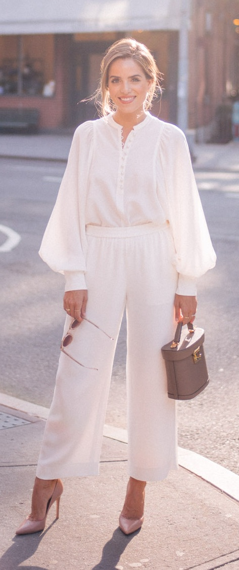 All White Outfit Ideas for Workwear