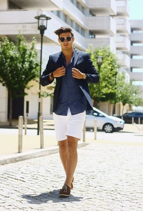 blazer and short business casual outfit