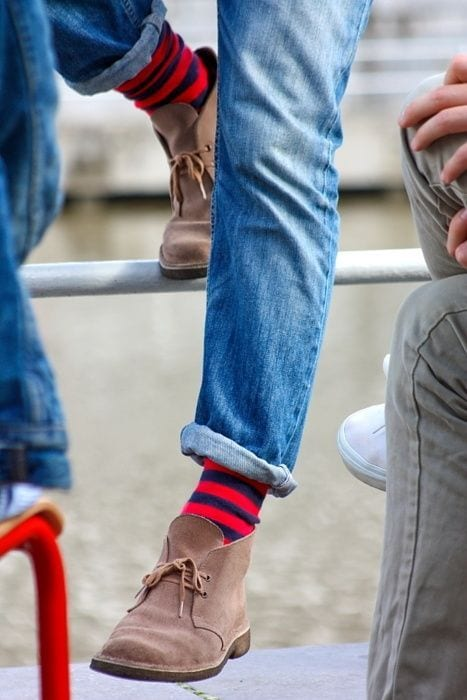 casual shoes with socks