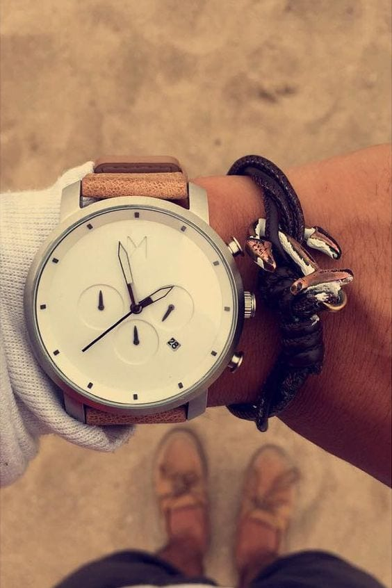 watch with brown belt for men