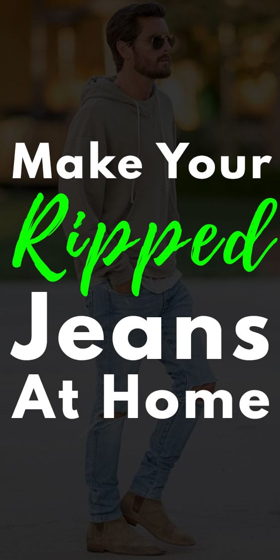 DIY Ripped Jeans at Home