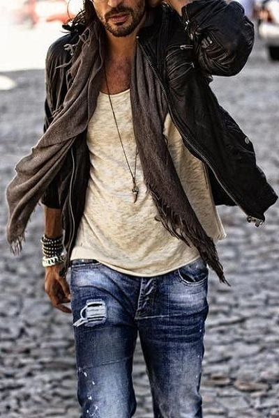 outfits for men bohemian look