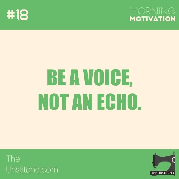 Morning Motivation #18