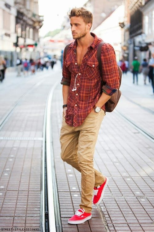 casual flannel shirt look for men