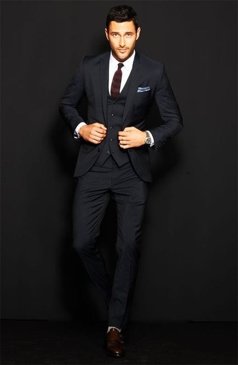 well tailored suit for men