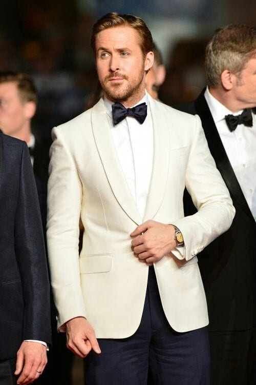 ryan gosling white tux
