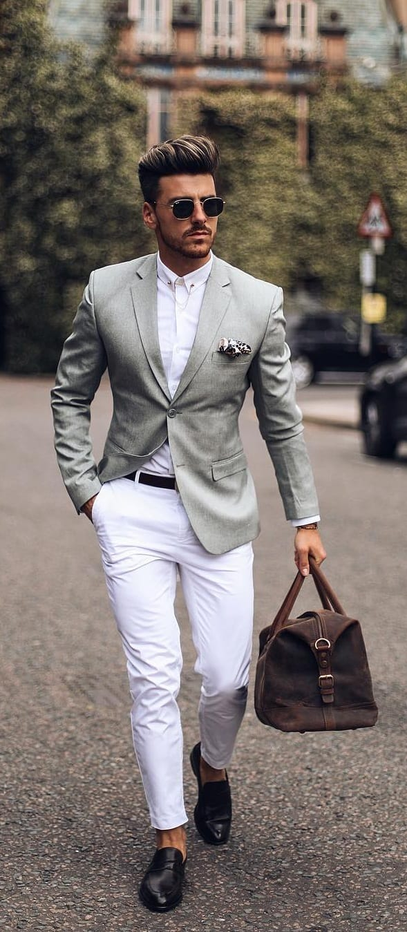 Blazer With Chino Outfit Ideas
