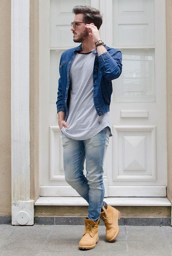 denim jeans outfit for men