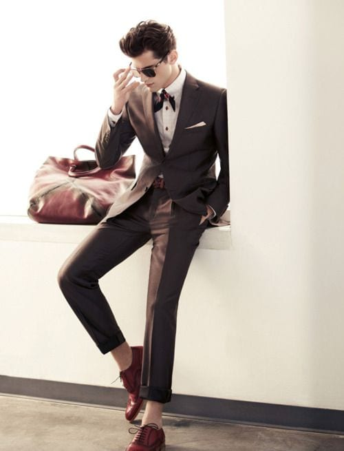 dark brown suit for men