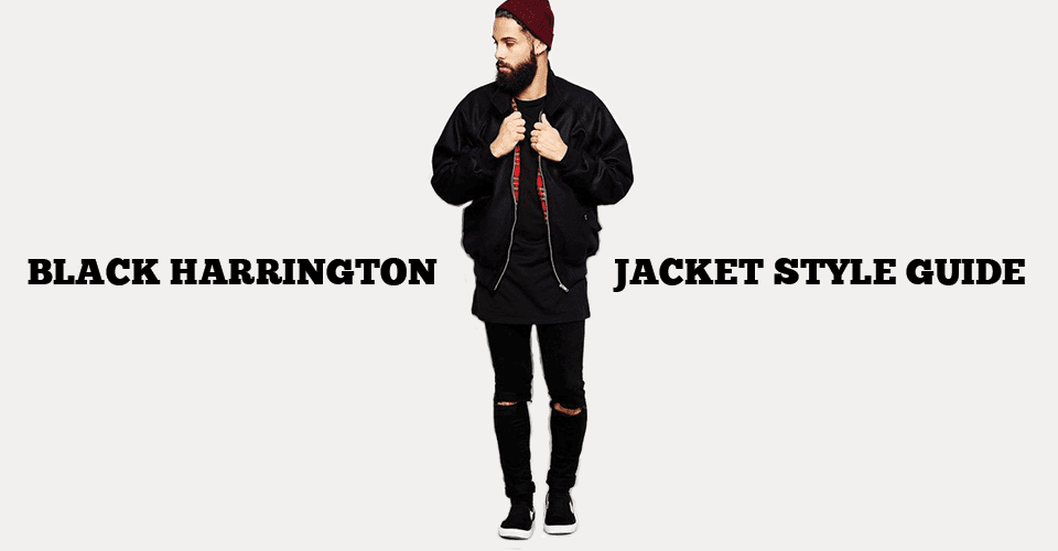 Black Harrington Jacket