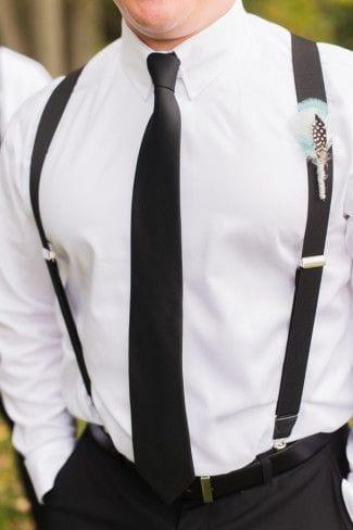 the black tie suspenders