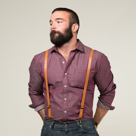 rugged suspenders look