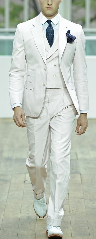 white waist coat formal outfit