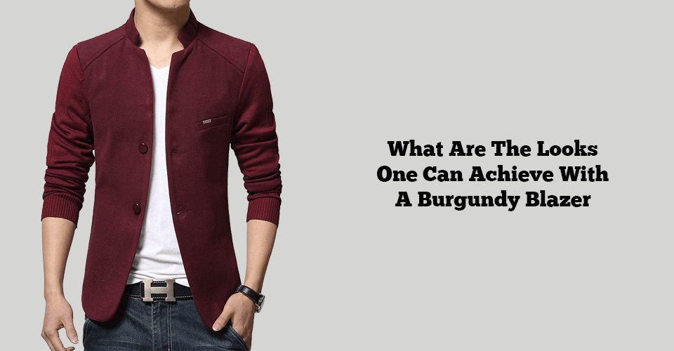 popular burgundy blazer outfits