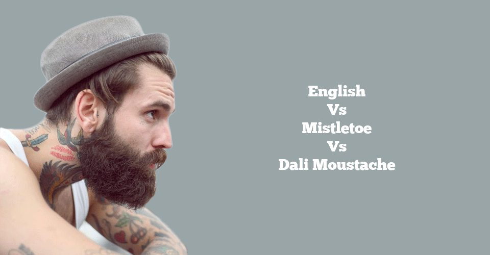 English, Mistletoe And Dali Moustache Styles