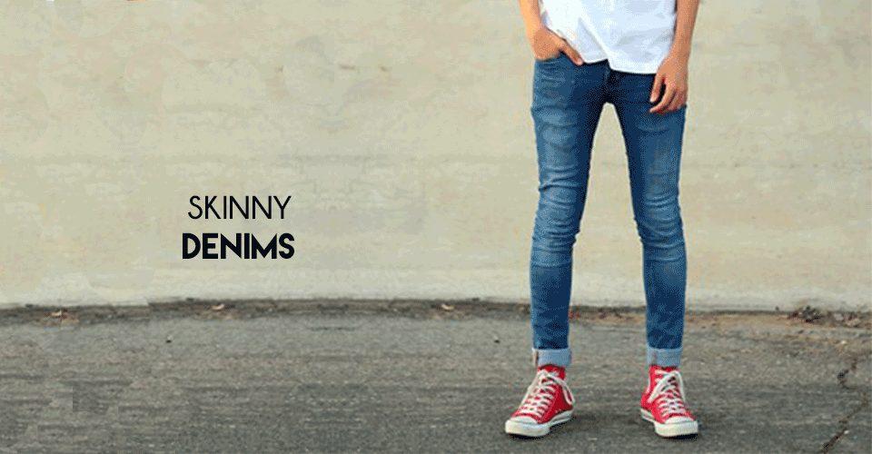trendy skinny denims