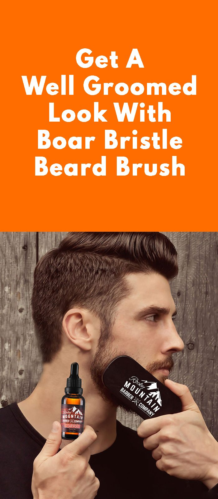 Get A Well Groomed Look With Boar Bristle Beard Brush.