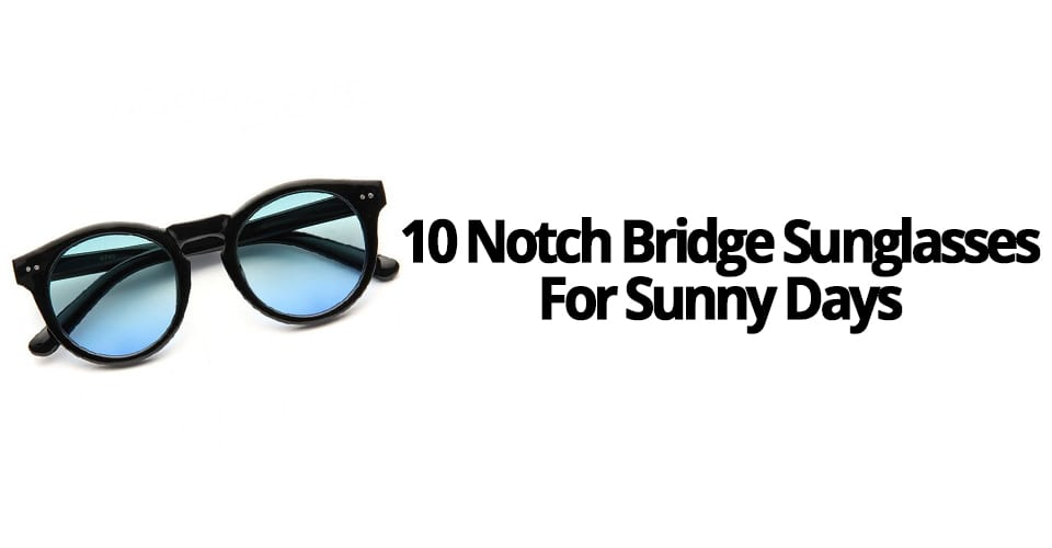 10 NOTCH BRIDGE SUNGLASSES FOR SUNNY DAYS