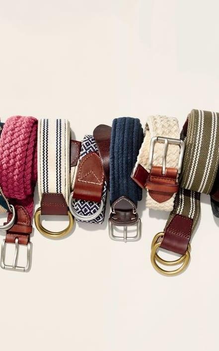classy fabric belts