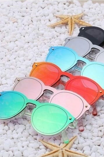coloured sunglasses collection