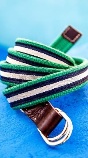 colourful fabric belts