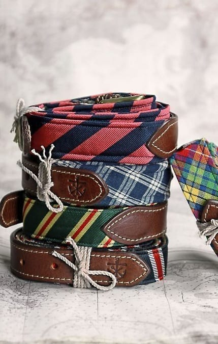 colourful suede belts