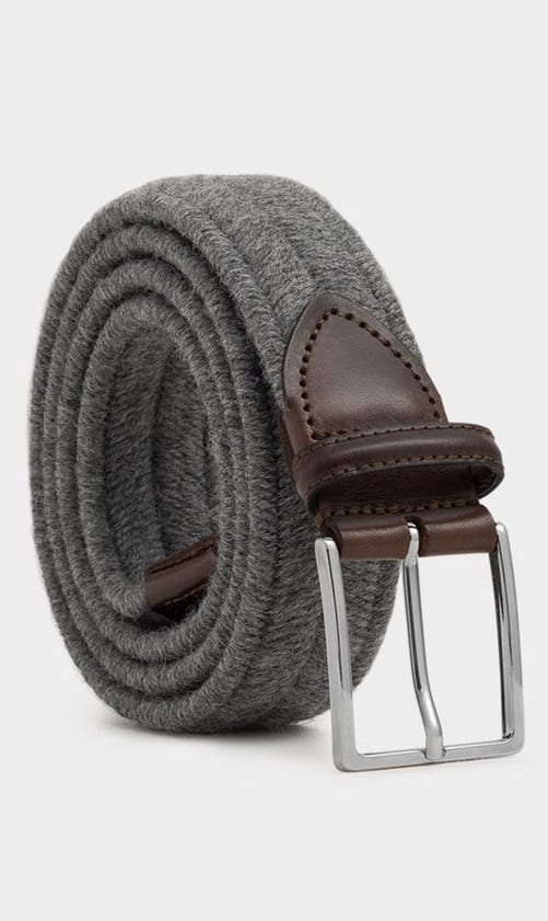 grey suede belts