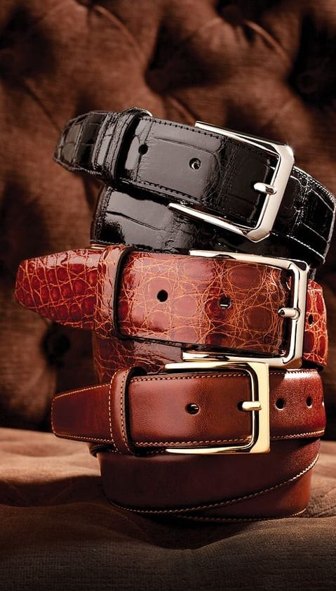 leather dress belts