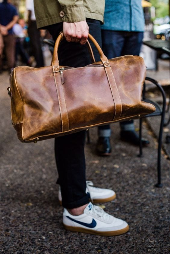 leather dufel bags