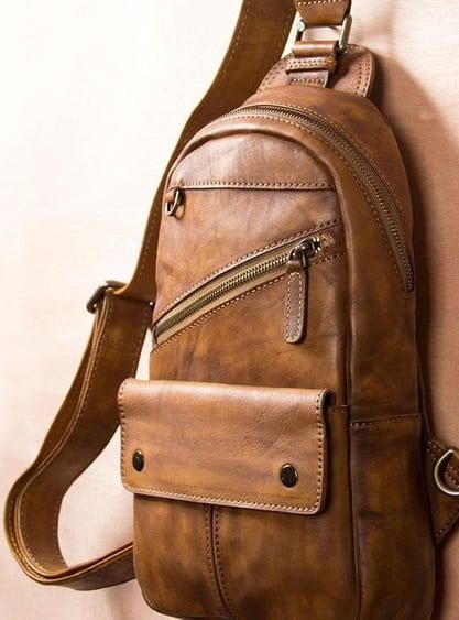 leather sling bags for men