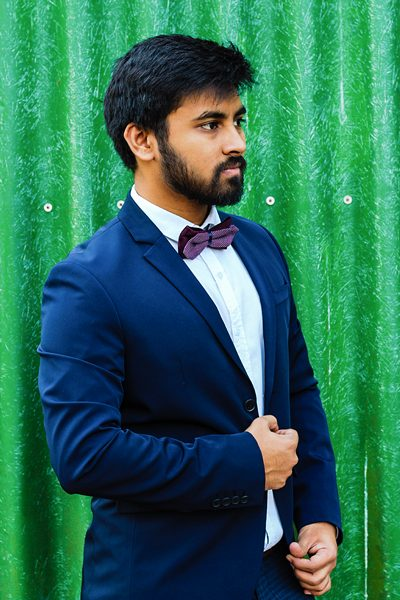 wedding outfit ideas for men with suit bow tie